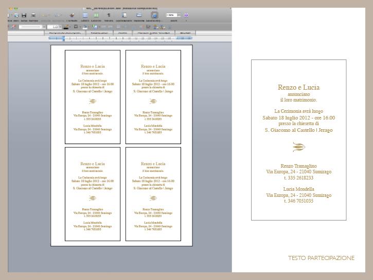 Partecipazioni Matrimonio In Word : Ilnibbiobruno weddings events tutorial matrimonio