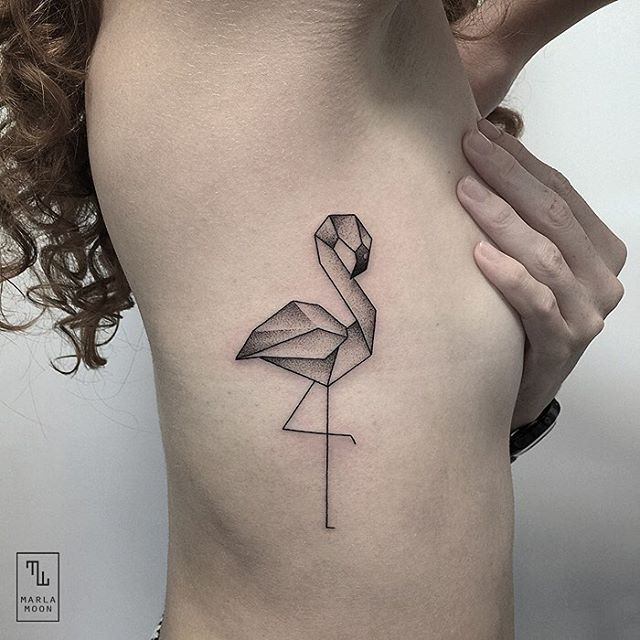 03-Flamingo-Marla-Moon-Geometric-Shapes-with-Tattoo-Drawings-www-designstack-co