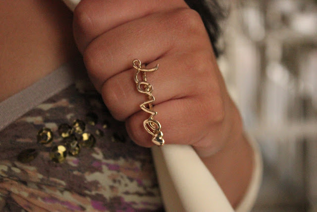 Gold Love Ring Forever 21