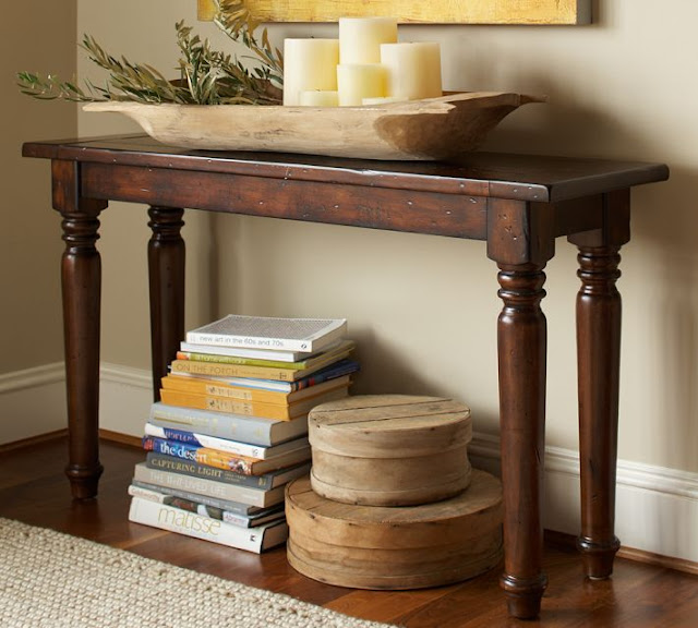 Foyer Table Pottery Barn : Copy cat chic pottery barn hyde turned leg console table
