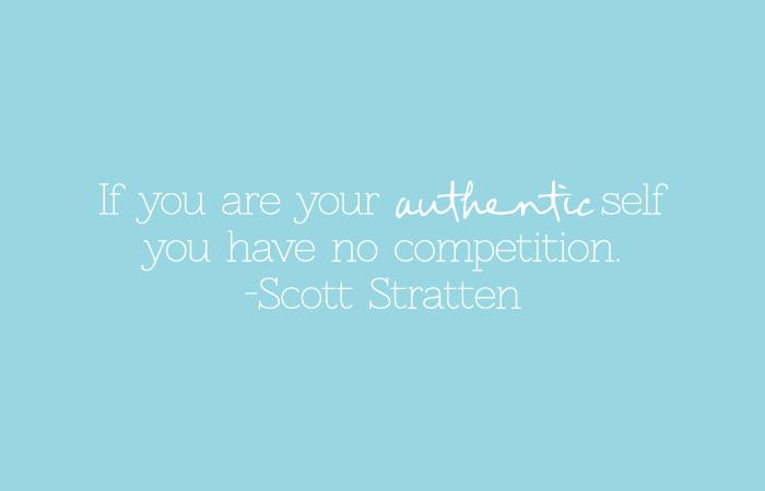 authentic self quote scott stratten
