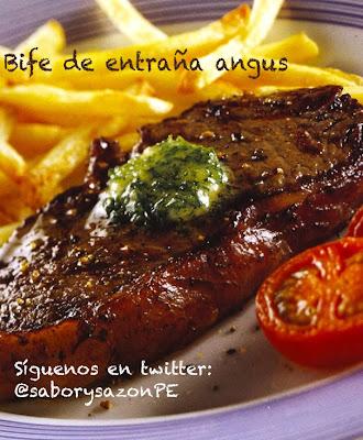 Como preparo un BIFE DE ENTRAÑAS ANGUS - Receta - Video              http://comopreparoun.blogspot.com
