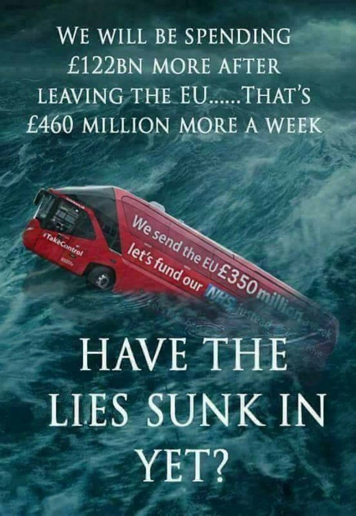 Have the Brexit Lies sunk in yet?