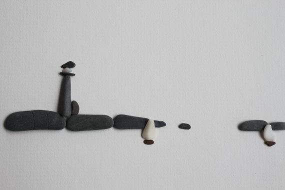 dekoracja z kamieni DIY inspiracje eco manufaktura Pebble Art