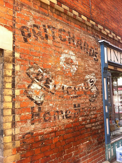 Ghost sign for Pritchard's, Stroud, Gloucestershire