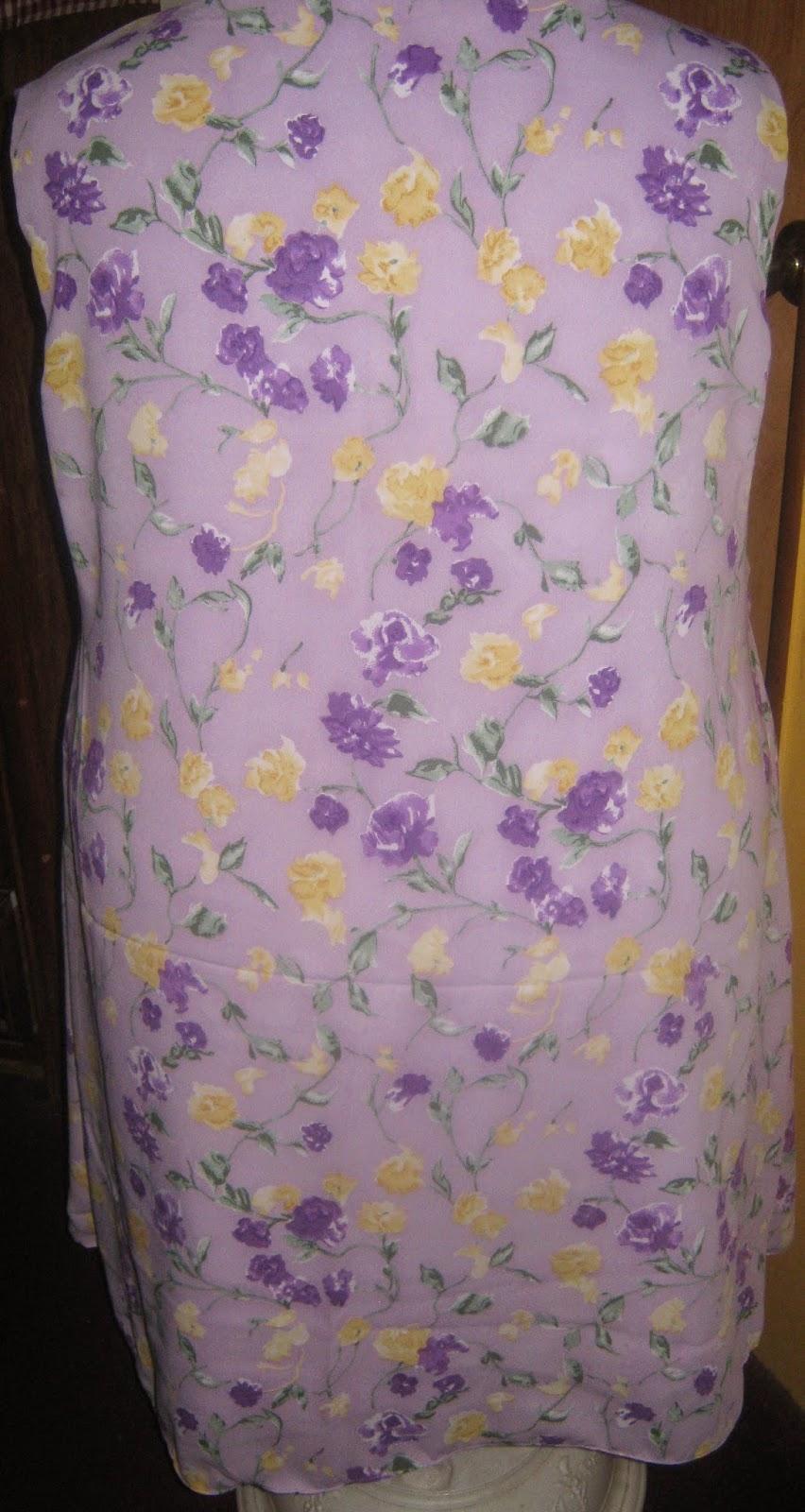 Simplicity 7117 sleeveless dress www.sewplus.blogspot.com back view