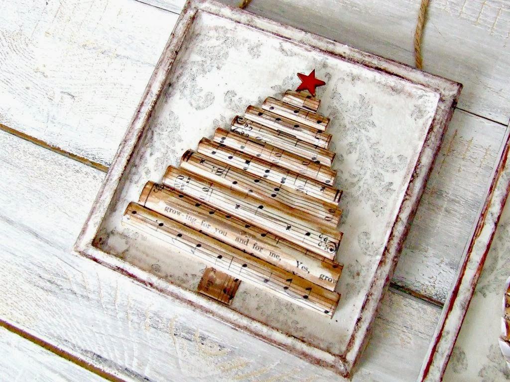 choinka dekoracja świąteczna hand made - świąteczne obrazki 3D