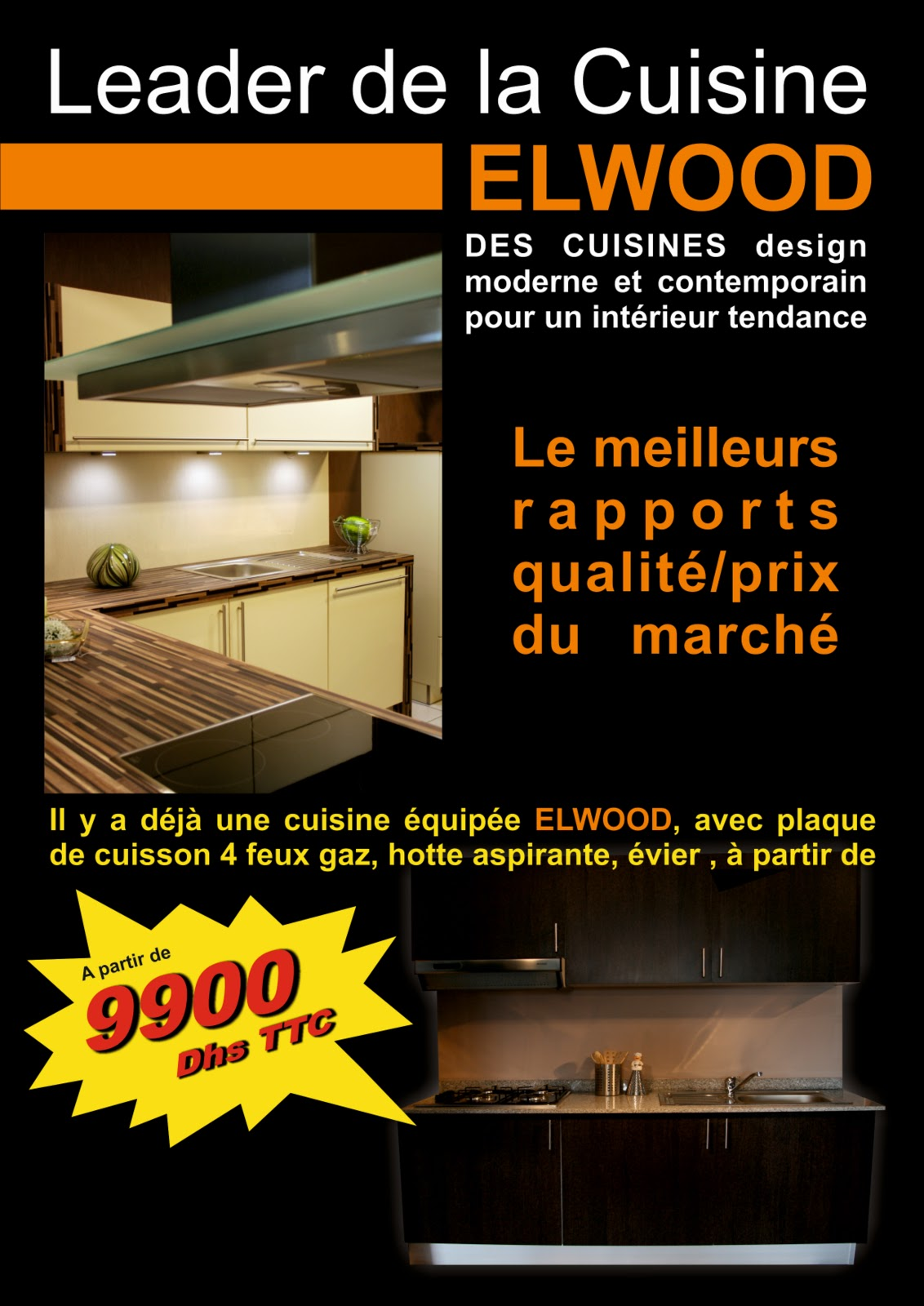 Morocco racing team elwood project cuisine design for Cuisine projet