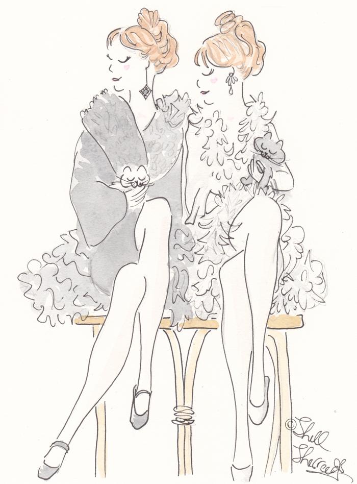 Fashion animals illustration Double Trouble, Fluff and Cuddle © Shell-Sherree