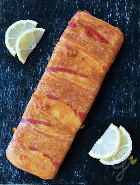 Frittata al limone al forno lardellata