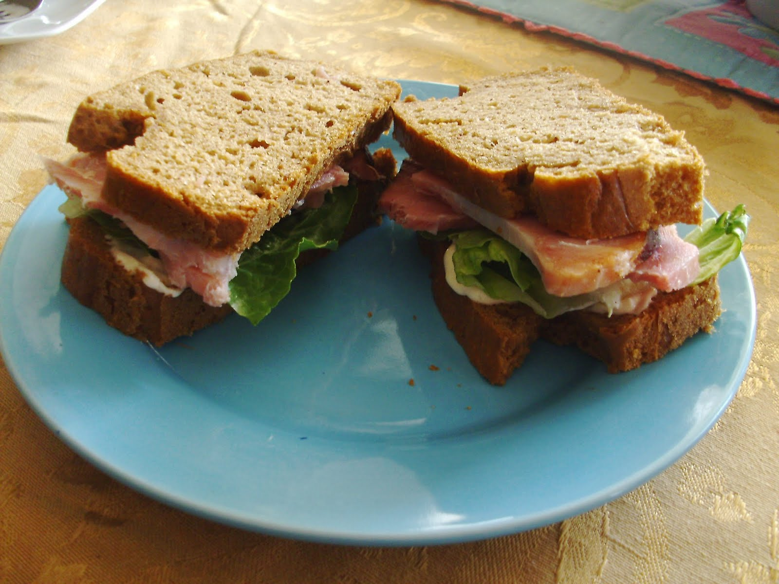 Healthy sandwich prepared at home