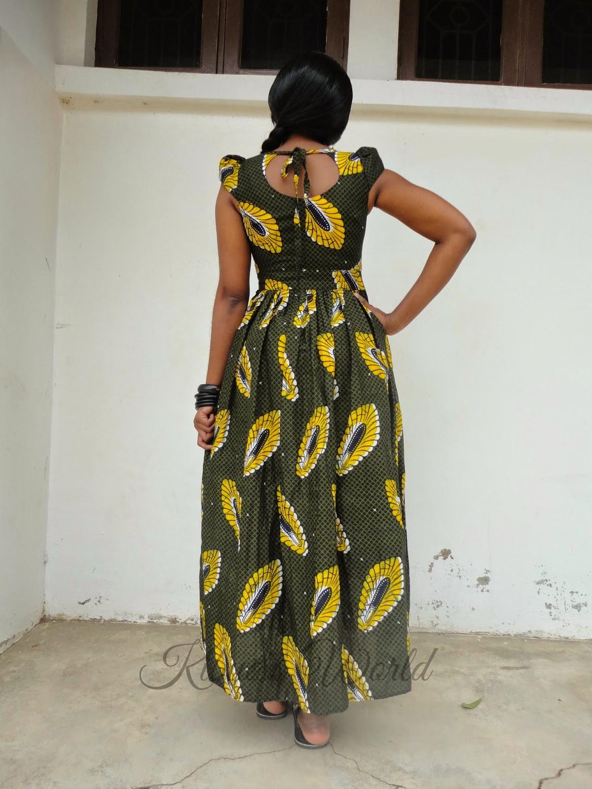 Kibua Designs | For African Fashion: KITENGE MAXI DRESS