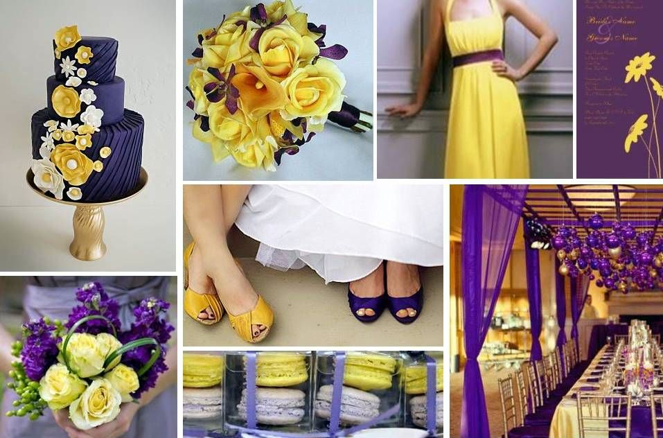 Purple and yellow wedding wedding planning discussion forums love the combination of yellow purple mightylinksfo