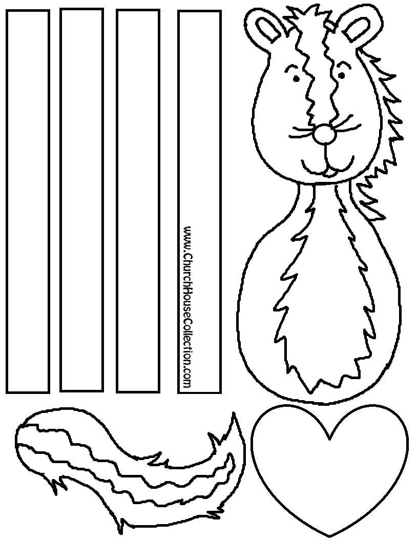 Valentine's Day Cutout Skunk Craft for Kids