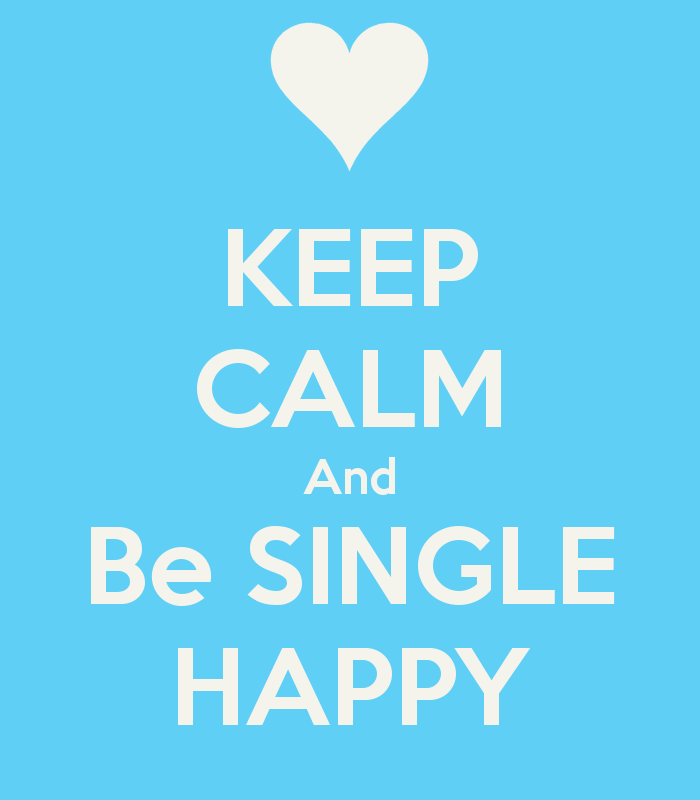 Being happy single man
