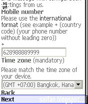 Mobile number snyc