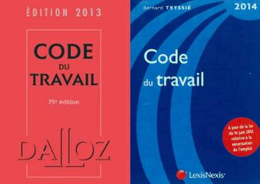 Deux éditions du Code du travail