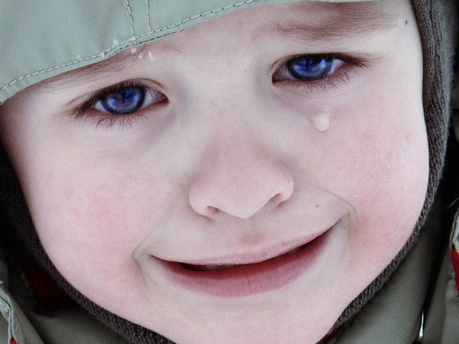 Cute sad baby face