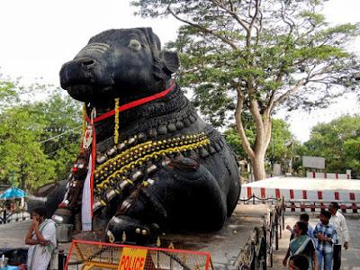 Nandi in Chamundeshwari Temple in Mysore