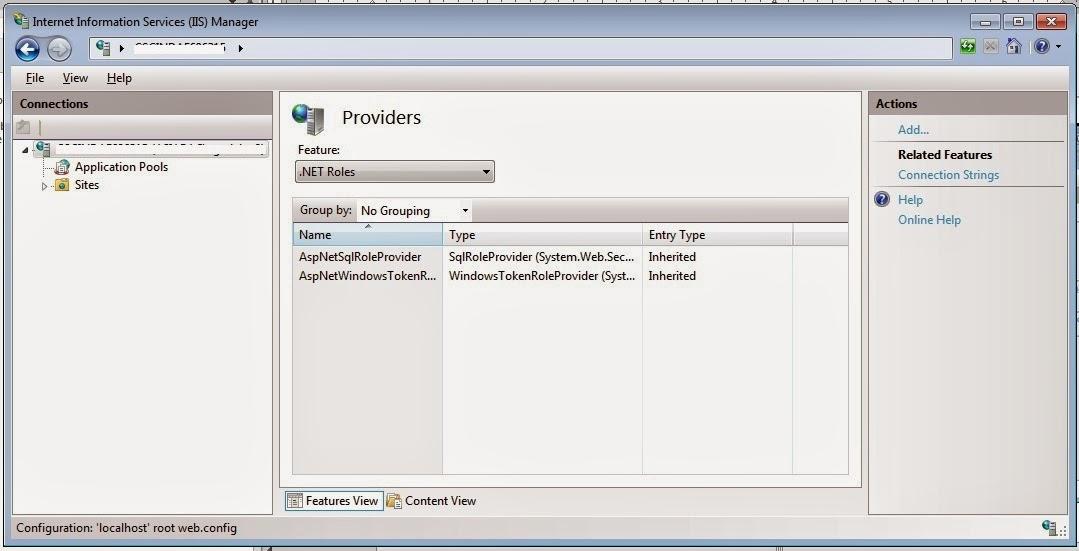 IIS 7 add provider
