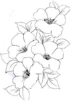 Riscos para Pintura em Tecido Flores