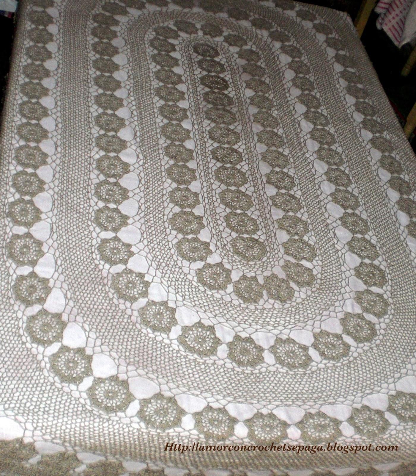 Para mi suegra! (Mantel Ovalado - Crochet)