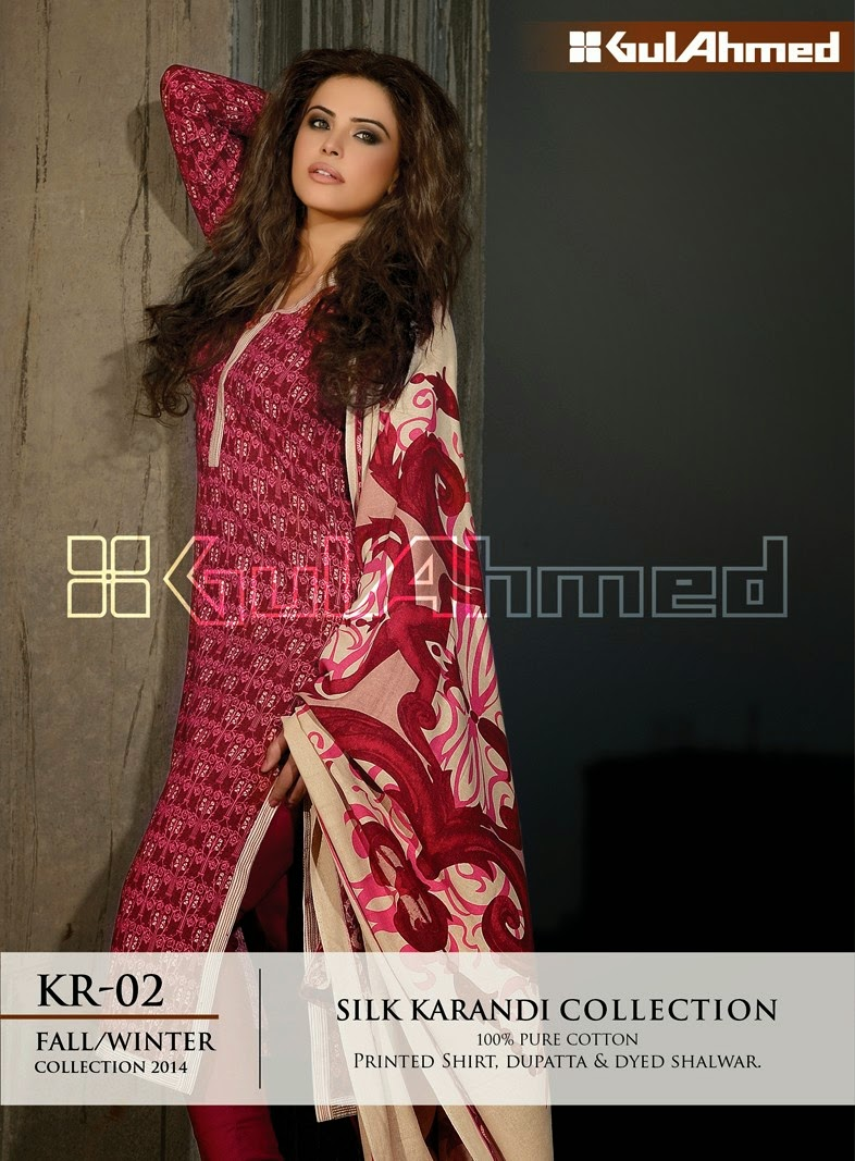 GulAhmed Fall/Winter 2014 Silk Karandi Collection - KR-02