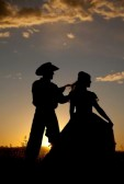 cowboy & cowgirl silhouette