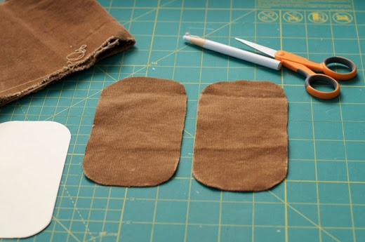 Made by katrina diy elbow patches trace your paper pattern to your fabric and repeat so you have two drawn patches cut along the markings be sure to clip any loose thread when youre maxwellsz