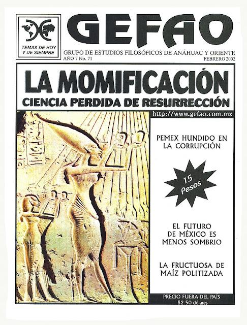REVISTA GEFAO LA MOMIFICACION CIENCIA PERDIDA DE LA RESURRECCION