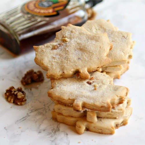Hungry Couple: Maple Walnut Shortbread Cookies