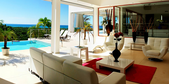 Stunning contemporary interior of this Dominican home for sale