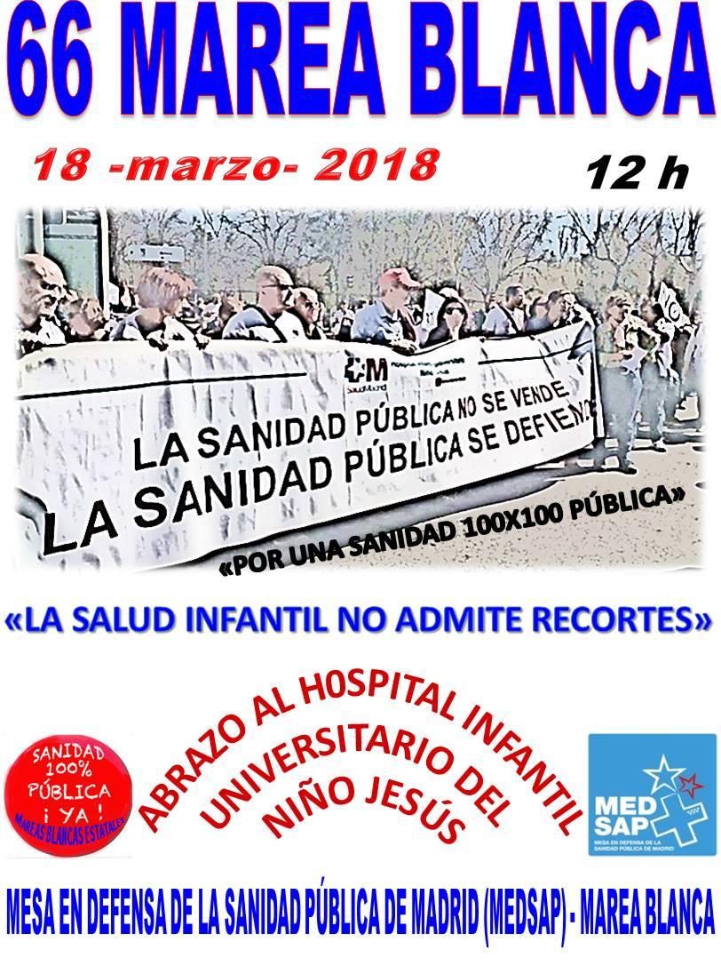 18 de marzo: Sanidad Pública de Calidad