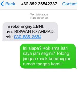 balasan SMS penipuan lucu dan gokil
