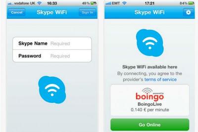 Dia das mães com Wi-Fi grátis do Skype