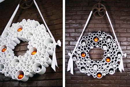 10 ideas para reciclar tubos de pvc - Decoraciones navidenas con reciclaje ...