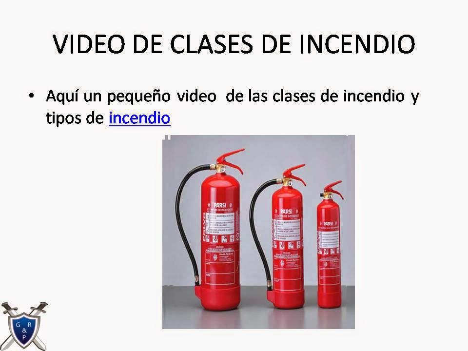 VIDEO SOBRE CLASES DE FUEGO