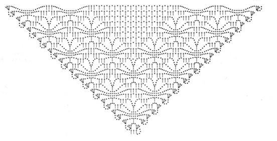 Начните вязание по схеме.