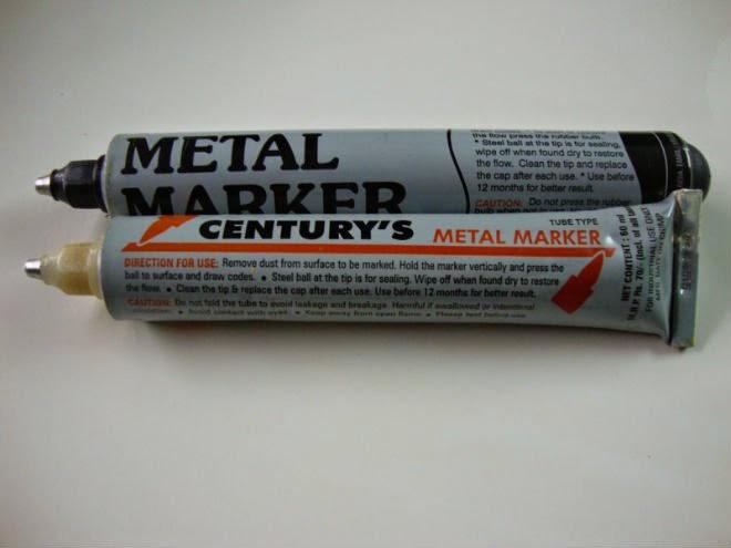 bút đánh dáu không phai trên kim loại