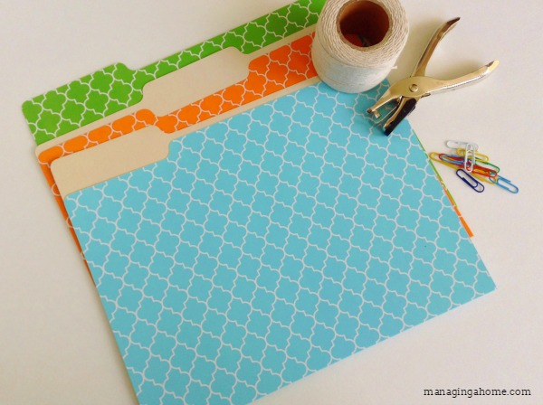 file folders twine organizing with household supplies free organization