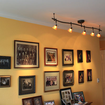 Inside the frame light it up draw peoples attention to your family photos or artwork with focal track lighting aloadofball Images