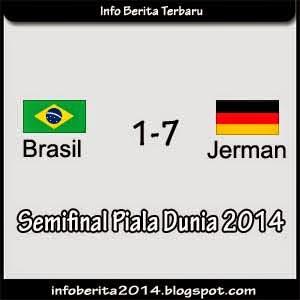 Hasil pertandingan Brasil vs Jerman (1-7)