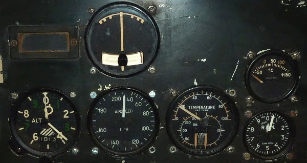 antique aviation gauge