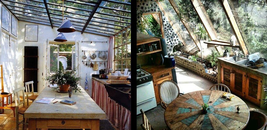 La fabrique d co des plantes dans la cuisine - Toit vitre maison ...