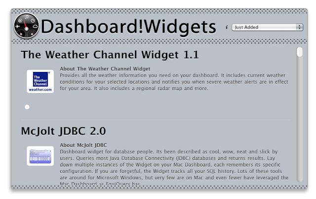 Dashboard!Widgets