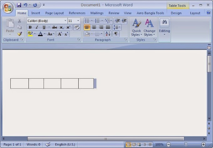 How to Create Table in Word ! Nice tricks