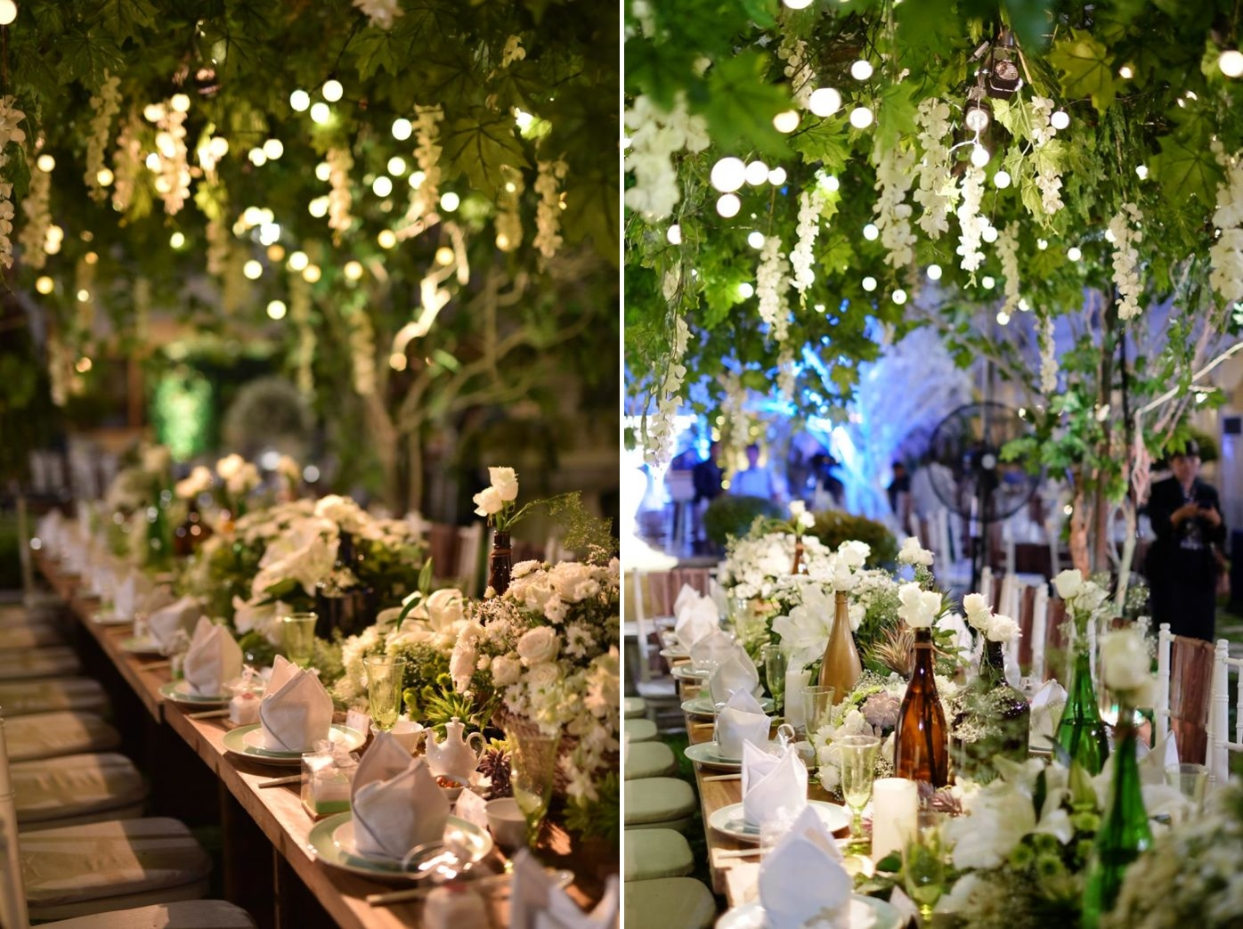 Favorite wedding theme for reception looks steves decor capturing the charming ambiance of a classic garden wedding venue is a fun thing to do the decorative cues are all there fragrant flowering plants junglespirit Images
