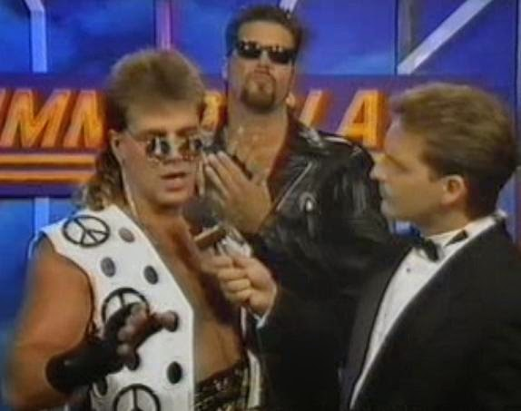 WWF / WWE SUMMERSLAM 1993: Joe Fowler interviewed Diesel and Shawn Michaels about the latter's Intercontinental Championship match against Mr. Perfect