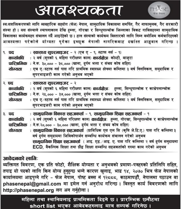 Job Vacancy Of Nepal