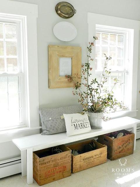 Caisses en bois et d co r cup : id es de rangement vintage